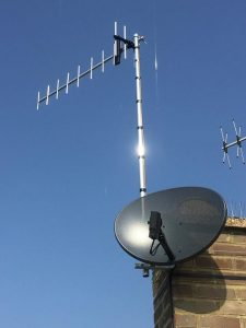 aerial and dish